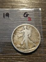 1919 WALKING LIBERTY SILVER HALF DOLLAR G LISTING 2