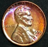 1956-D - LINCOLN WHEAT BACK CENT - MS BU - BEAUTIFULLY TONED