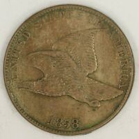 1858 LARGE LETTERS, FLYING EAGLE CENT. AU. RAW2010/JAN
