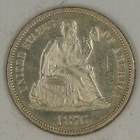 1876-P SEATED LIBERTY DIME. CHOICE UNCIRCULATED PL. RAW2009/BAE