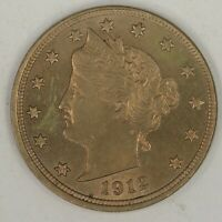 1912 LIBERTY NICKEL.  CHOICE UNCIRCULATED. RAW1991/BQL