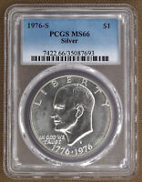 1976-S SILVER UNCIRCULATED EISENHOWER DOLLAR PCGS MINT STATE 66 87693