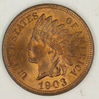 1903 INDIAN HEAD CENT.  CHOICE UNCIRCULATED RED. RAW1968/JCS