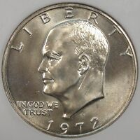 1972-S SILVER EISENHOWER DOLLAR ANACS CERTIFIED MINT STATE 67 OLD SMALL HOLDER PURCHASED