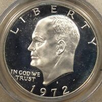 1972-S SILVER EISENHOWER DOLLAR PCGS CERTIFIED PF69 DCAM PURCHASED LATE 90'S
