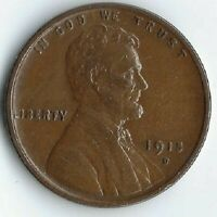 1915-D LINCOLN WHEAT CENT, EXTRA FINE