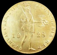 1928 GOLD NETHERLANDS 3.5 GRAMS DUCAT TRADE COIN MINT STATE CONDITION