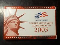 2005 S US MINT SILVER PROOF SET WITH BOX/COA    US COINS