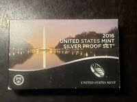 2016 S US MINT SILVER PROOF SET WITH BOX/COA AND PRESIDENTS