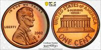 2002-S LINCOLN CENT PCGS PR69RD DCAM W/ GOLD SHIELD NFC