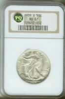 1939 S 50C WALKING LIBERTY HALF DOLLAR PQ APPROVED STICKER NGC MINT STATE 67 109412-002