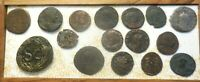 LOT OF 16 VF ANCIENT ROMANS LARGEST IS A 29 MM 14.29 G VESPASIAN OF ANTIOCH