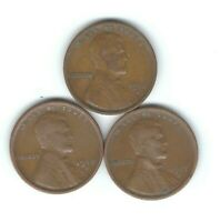 1916-S, 1917-S & 1918-S LINCOLN PENNIES IN FINE- PANDEMIC SURVIVORS
