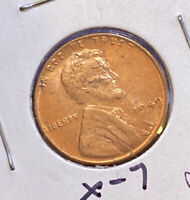 1949-P GEM BU LINCOLN WHEAT 1C  RED UNCIRCULATED BEAUTY  F34