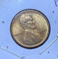 1944-D LINCOLN WHEAT 1C  MOSTLY RED GEM BU GREAT VALUE  B41