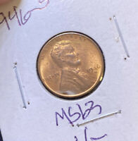 1946-S LINCOLN WHEAT 1C  RED BROWN GEM BU GREAT VALUE  B44