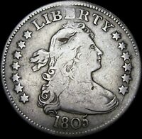 1805 DRAPED BUST QUARTER DOLLAR TYPE COIN        NICE DETAILS      A454