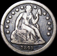 1841-O SEATED LIBERTY DIME TYPE US COIN ----  STUNNING ---- A518