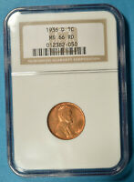 1936-D LINCOLN WHEAT CENT NGC MINT STATE 66RD- SHARP, HI-GRADE EXAMPLE