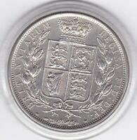 1883   YOUNGER  HEAD  HALF  CROWN   2/6D     92.5   SILVER