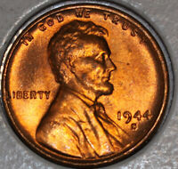 1944-S WHEAT CENT UNCIRCULATED RED [SN15]