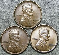 1918-D 1919-D 1928 LINCOLN CENT PENNY ---- STUNNING LOT ---- A755