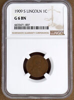 1909-S LINCOLN CENT NGC G6 BN