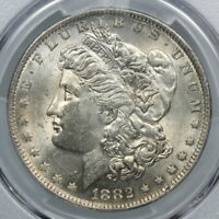 PCGS MINT STATE 62 1882-O/S STRONG MORGAN SILVER DOLLAR VAM-3 TOP 100 $1    BC75