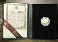 1982 ROYAL CANADIAN MINT 22K $100 GOLD PROOF COIN W/BOX & CO