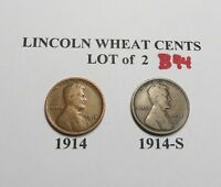 1914 1914-S  KEY SET -LOT OF 2 LINCOLN WHEAT CENT COLLECTION COMB.SHIP LOT B44