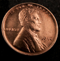 1914 LINCOLN WHEAT CENT CENT // GEM BU RED // SUPER SHARP W214