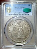 1860 O SEATED LIBERTY DOLLAR        CERTIFIED PCGS MS 62 CAC
