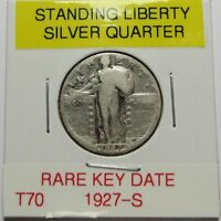 1927-S   STANDING LIBERTY SILVER QUARTER   KEY DATE  COMBINED SHIP LOT T70