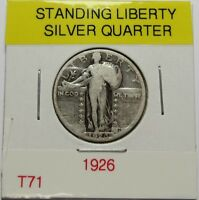 1926  STANDING LIBERTY SILVER QUARTER     COMBINED SHIP LOT T71