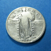 1926  STANDING LIBERTY SILVER QUARTER  90 SILVER  COMBINED SHIP LOT 1484
