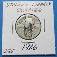 1926   STANDING LIBERTY SILVER QUARTER  FOR COLLECTION   COMB SHIP   LOT Z55