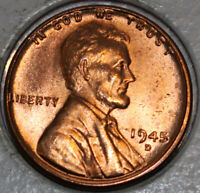 1945-D WHEAT CENT UNCIRCULATED RED [SN04]
