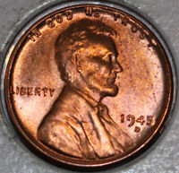 1945-D WHEAT CENT UNCIRCULATED RED [SN17]