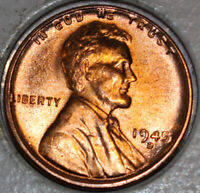 1945-D WHEAT CENT UNCIRCULATED RED [SN22]