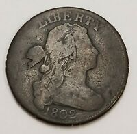 1802 1C LARGE CENT DRAPED BUST US COIN    ZZ15