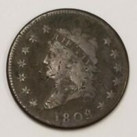 1808 CLASSIC HEAD LARGE CENT COIN 1C US      ZZ17