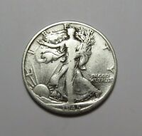 1945-D WALKING LIBERTY HALF DOLLAR  90 SILVER  COMBINED SHIPPING  LOT U37