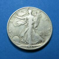 1943-D WALKING LIBERTY HALF DOLLAR  90 SILVER  COMBINED SHIPPING  LOT 1732