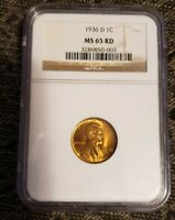 1936-D LINCOLN CENT : NGC MINT STATE 65RD BEAUTIFUL COIN