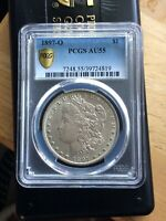 1897-O MORGAN PCGS AU55 GOLD SHIELD 100 SECURITY VAM 2 VARIETY KEY DATE COIN