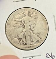 1945 50C SILVER WALKING LIBERTY $  GREAT DETAILS  AS SHOWN  H12