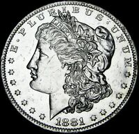 1881-O MORGAN DOLLAR SILVER ---- GEM BU PL ---- B258