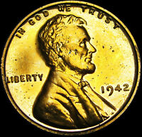 1942 LINCOLN CENT ---- GEM PROOF CONDITION  ---- B324