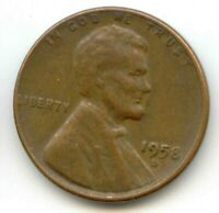 USA 1958D AMERICAN PENNY ONE WHEAT CENT COIN 1C EXACT PENNY SHOWN 1958 D
