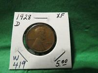 1928 D LINCOLN WHEAT CENT LOT W419